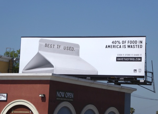 Best if used 40% food America wasted billboard