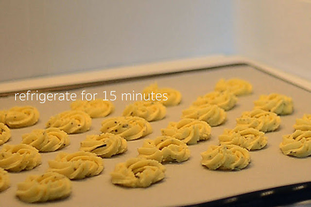 refrigerate  rosemary cookie dough