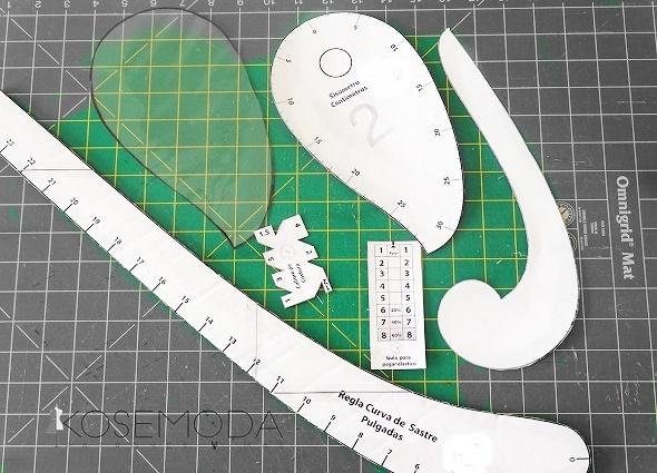 reglas costureras, reglas modistas, plantillas reglas costura