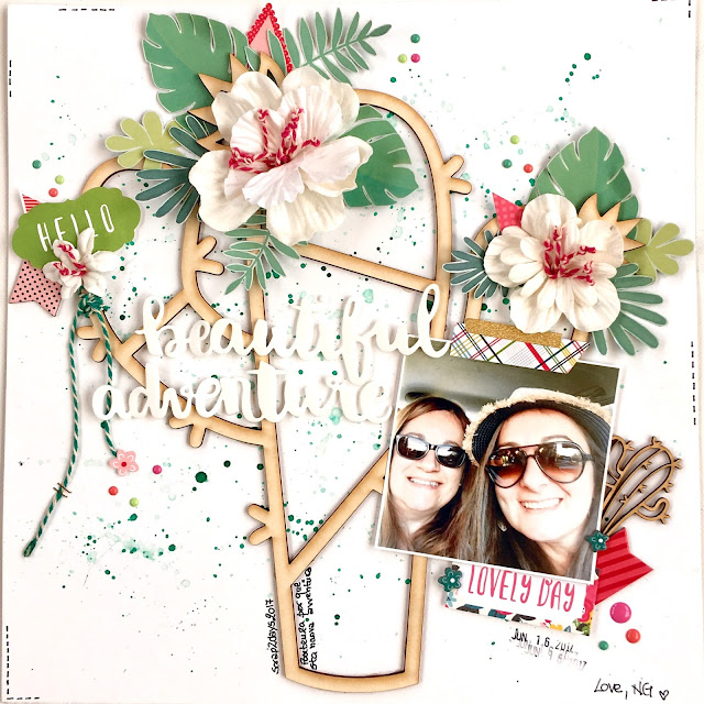 Beautiful Adventure Scrapbook Page by Angela Tombari for YupplaCraft DT
