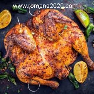دجاج مشوي على طريقة المطاعم بالحامض والثوم طبخ مغربي سهل