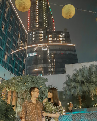 four points by sheraton surabaya christmas dinner with best friends from university iSTTS institut sains dan teknologi terpadu surabaya couple goals #couplegoals instagram husband instagram boyfriend influencer surabaya