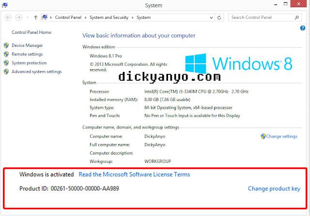 Cara Mudah Aktivasi Windows 7, 8, 8.1 dan 10