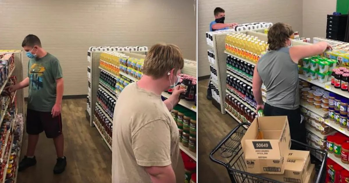 Texas High School Opens Grocery Store For Struggling Families Accepting Good Deeds As A Form Of Payment