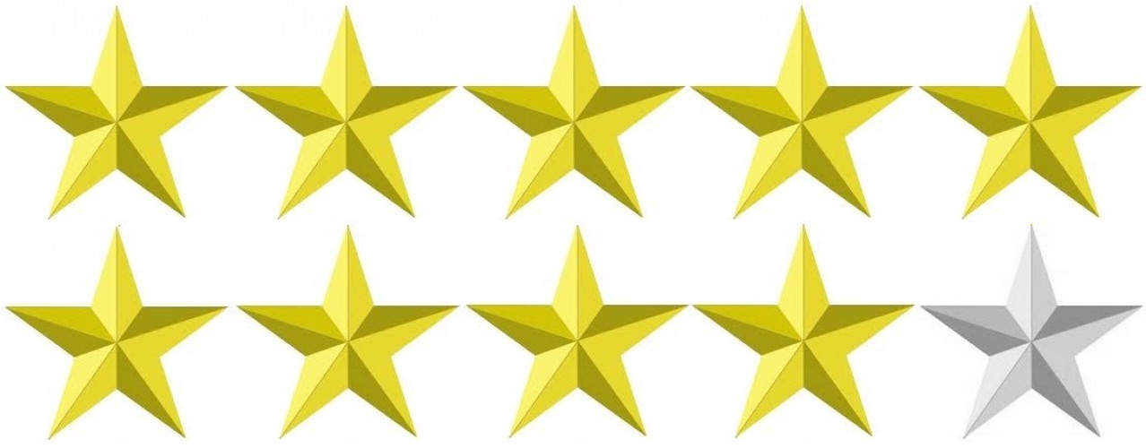 Image result for 9/10 stars