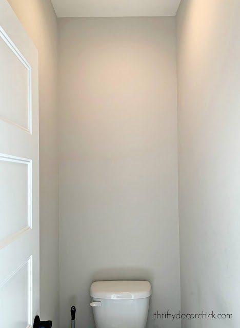 water closet with door