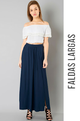 Faldas largas con crop top