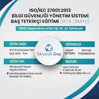 ISO/IEC 27001/2013 BİLGİ GÜVENLİĞİ YÖNETİM SİSTEMİ BAŞ TETKİKÇİ EĞİTİMİ