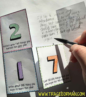 New Year Activity - Foldables Interactive Notebook Activities