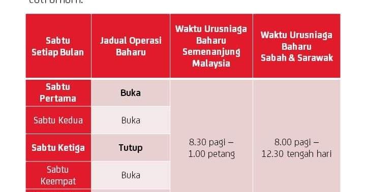Waktu Operasi Baru Pos Malaysia Hari Sabtu Mulai 1 Februari 2020 Layanlah Berita Terkini Tips Berguna Maklumat