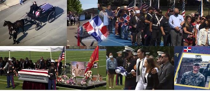 VIDEO: Mientras un carruaje con caballo llevaba el ataúd al cementerio multitudes dieron último adiós a la sargento Johanny Rosario