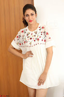 Lavanya Tripathi in Summer Style Spicy Short White Dress at her Interview  Exclusive 170.JPG
