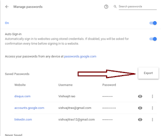 how to import passwords into chrome