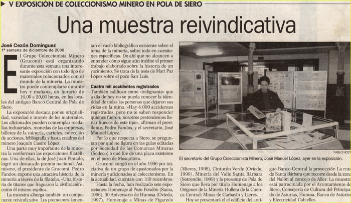 Noticia de Grucomi, 2000