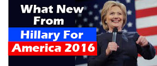 What new from Hillary For America Campaign