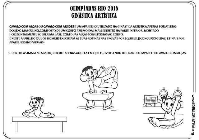 Atividade Olimpíadas Rio 2016 Ginástica Artística