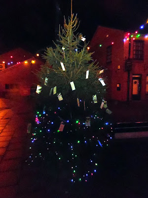 Picture: The Tree of Light 2018 erected for Christmas and containing memories of loved ones on its branches - see Nigel Fisher's Brigg Blog