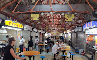 Hawker Center de Chinatown Complex Market and Food, Singapur o Singapore.