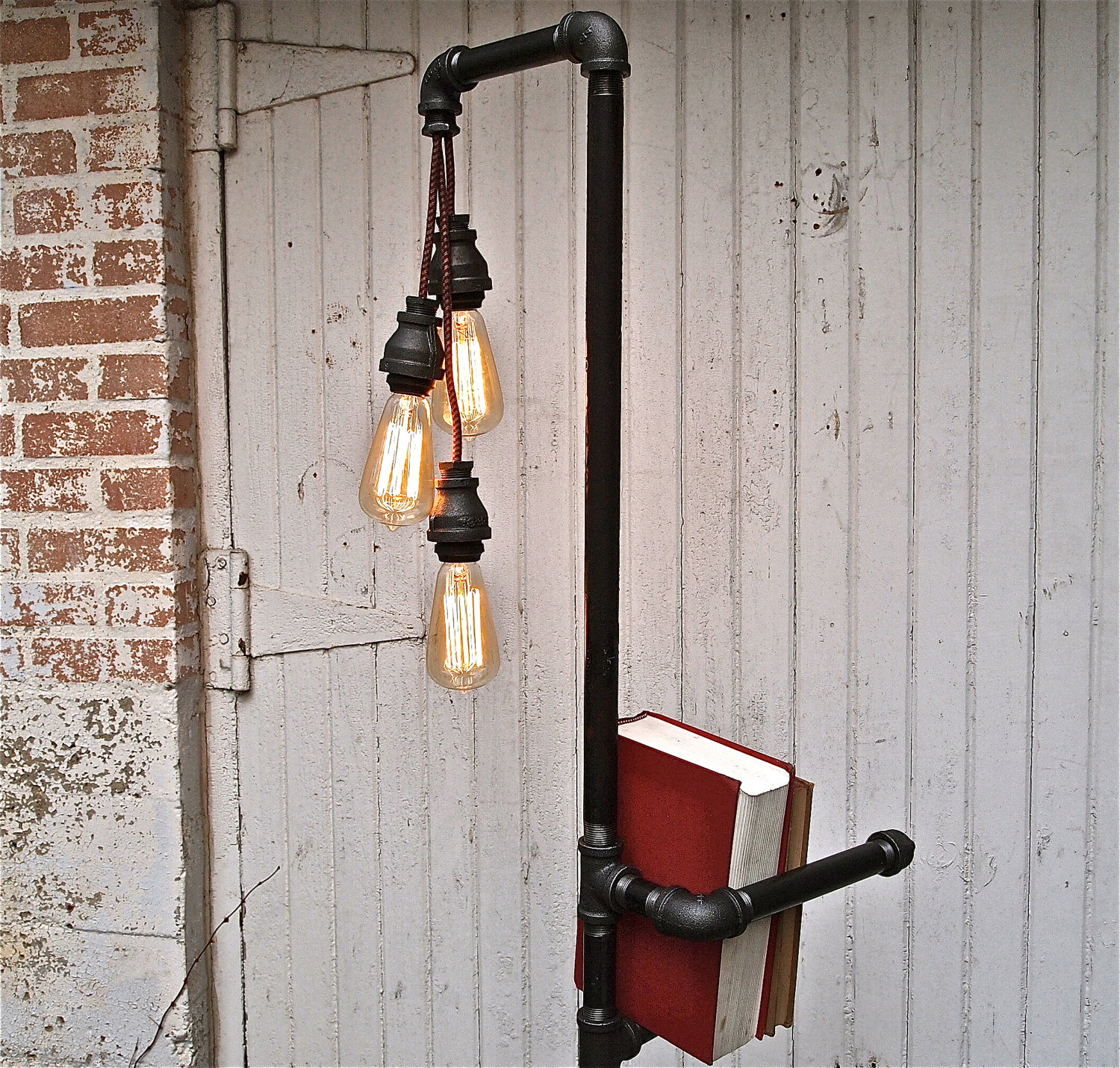 Black Industrial Floor Lamp The Collectionaire Pipe Dreams With Stella Bleu Designs