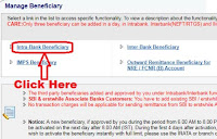 How to Add an Intra Bank Beneficiary within SBI Online