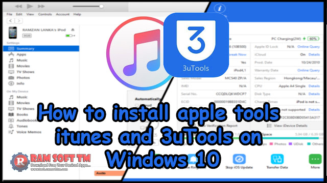 How to install apple tools itunes and 3uTools on Windows 10 [Apple]