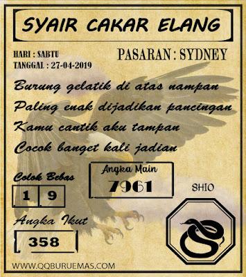 Syair SYDNEY,27-04-2019