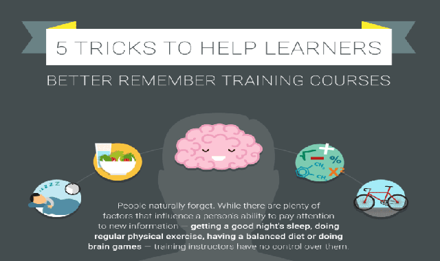5 tricks to help learners better remember training courses #infographic