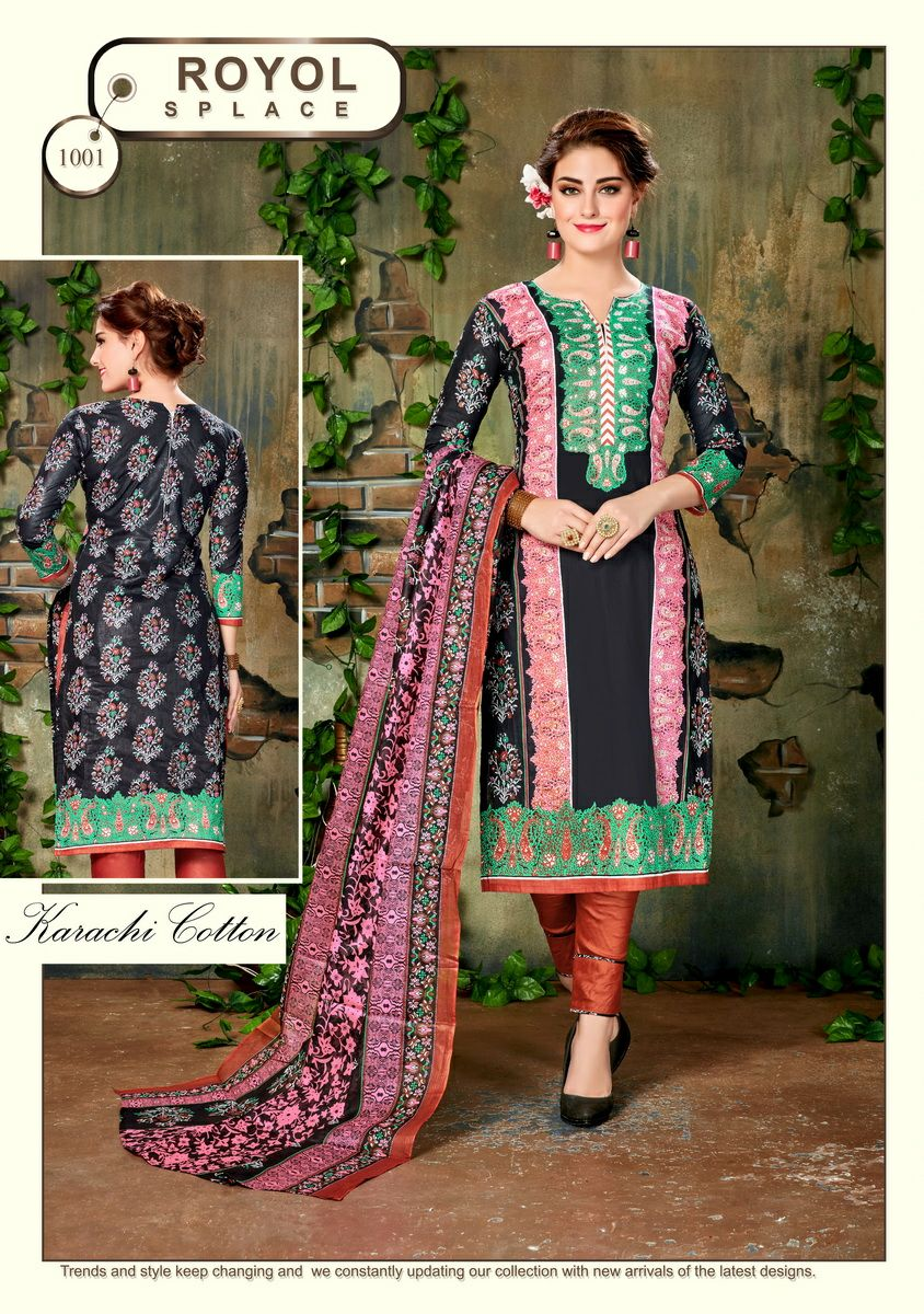 Noor – Casual Wear Designer Cotton Dress Material