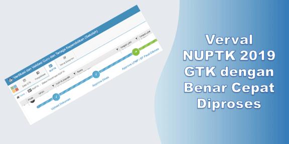 Verval NUPTK 2019 GTK dengan Benar Cepat Diproses