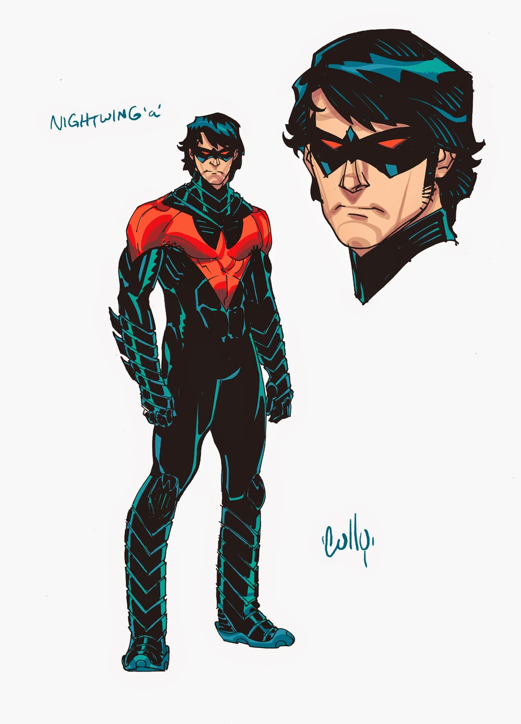 nightwing new 52 coloring pages - photo#37