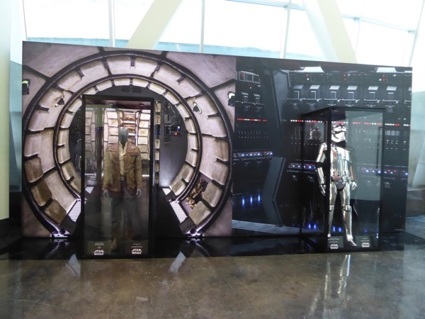 Star Wars Last Jedi costume exhibit