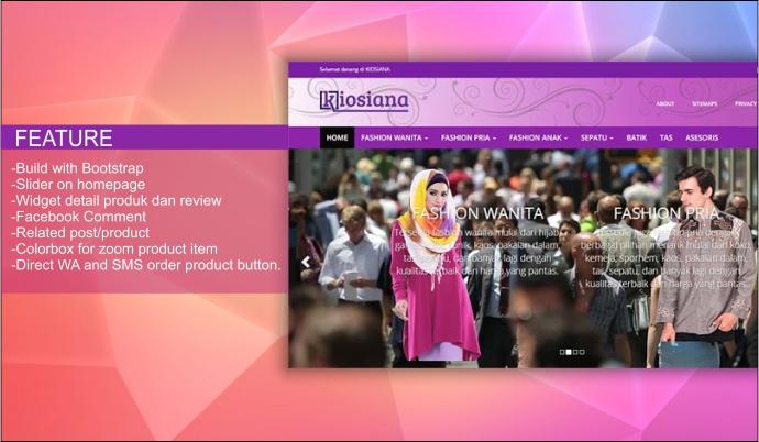 Kiosiana Premium Online Shop Blogger Template