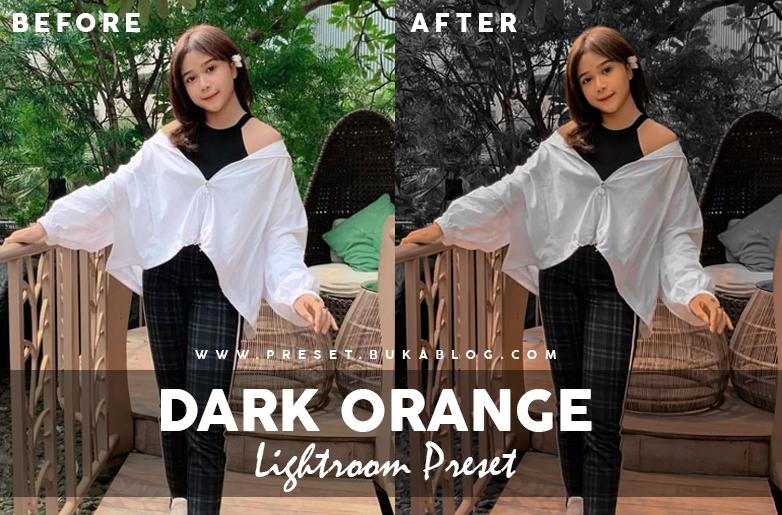 Preview of Dark and Orange Lightroom Preset