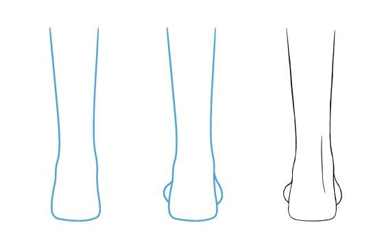 Tampilan belakang kaki anime