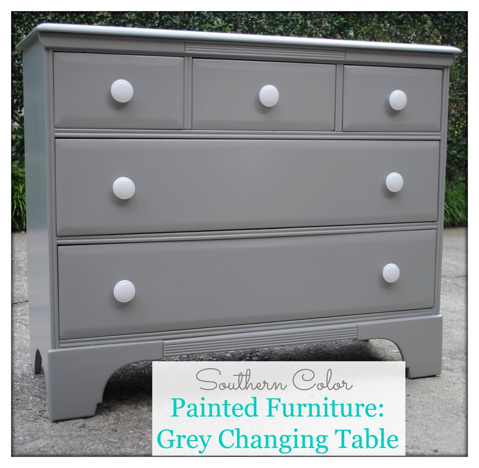 Painted Furniture Grey Changing Table