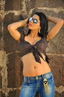 Sakshi Choudhary Hot Cleavage & Navel Show In Jeans Photos