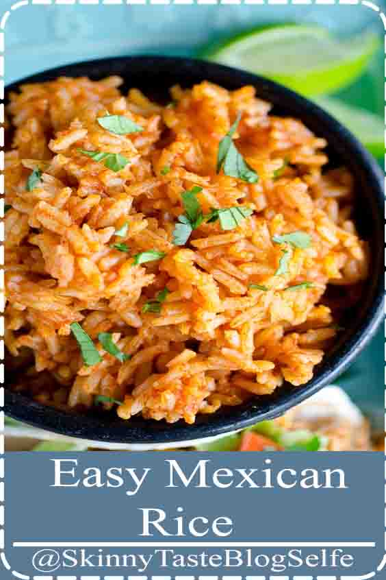 4.7 | ★★★★★ This Mexican Rice recipe is SO easy that you'll want to make it for all of your Mexican dishes! You can serve this Easy Mexican Rice (or Spanish Rice) as a side dish for all your Mexican meals! This simple perfect Mexican Rice recipe doesn't include any extra fillings, so your picky kids will also love it   #Easy #MexicanRice
