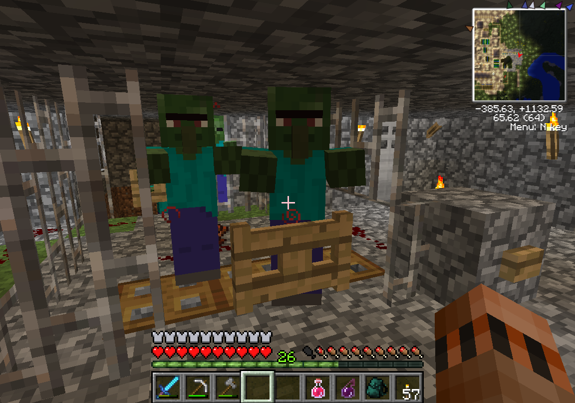 How to transform a zombie villager   Minecraft: How to Cure a Zombie