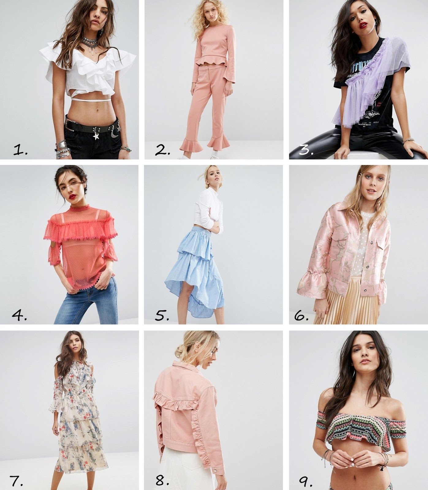 ruffle trend 2017 clothing must haves asos