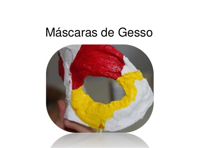 mascara de gesso carnaval