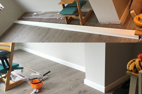 adding the skirting boards after the laminate flooring
