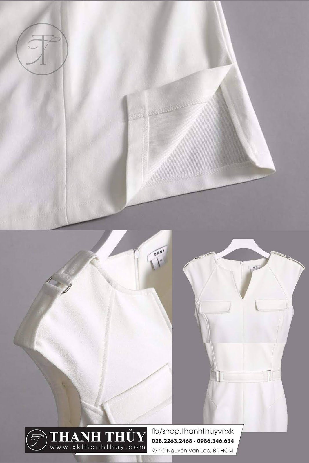 Đầm trắng tây thun thời trang đẹp