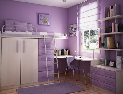 Contoh kamar tidur dengan mensiasati perabot