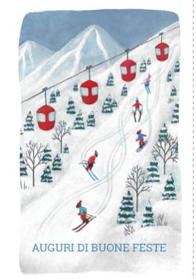 Biglietto di auguri: piste da sci