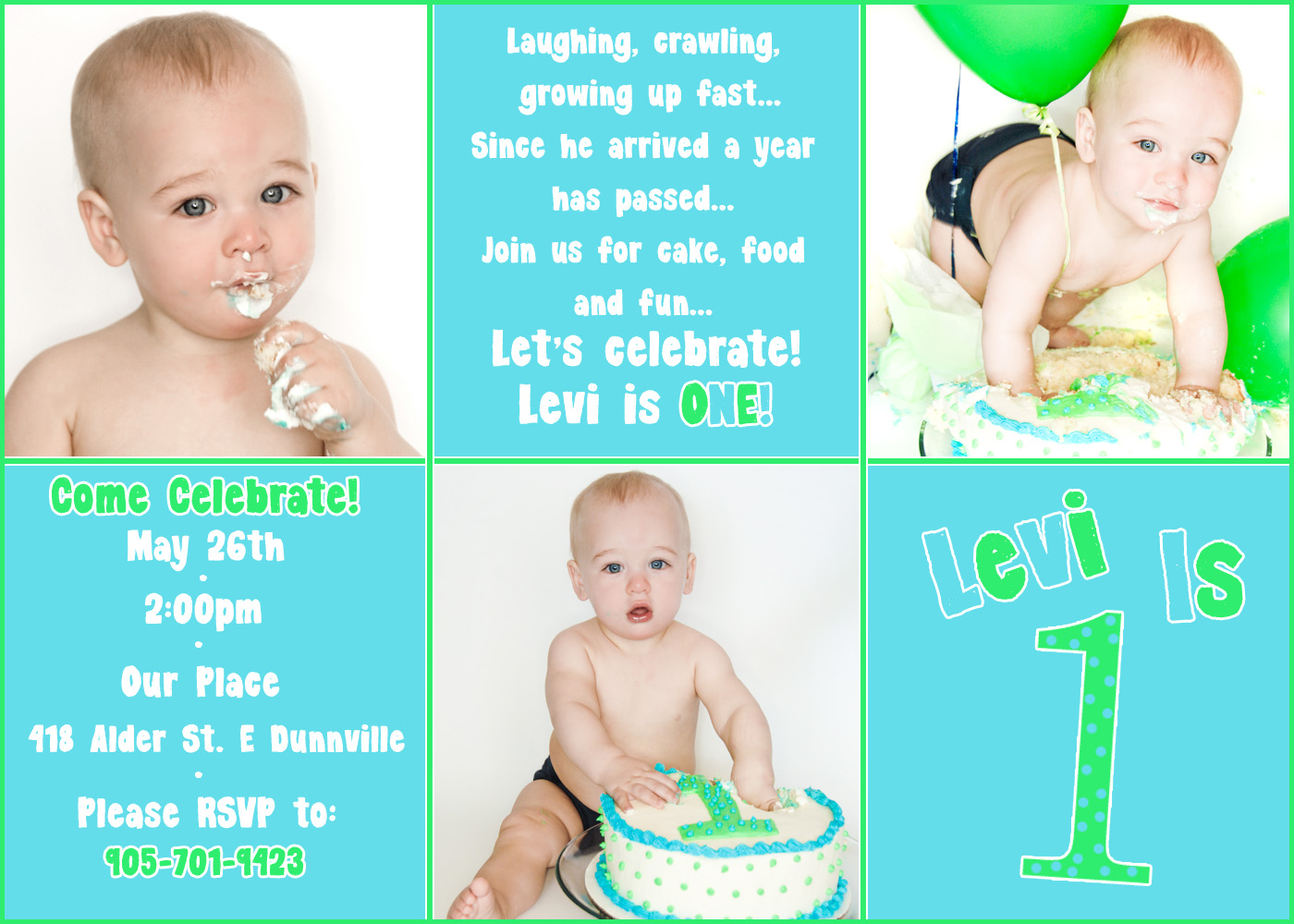 1st Birthday Invitation Templates Free Greetings Island Card For Baby