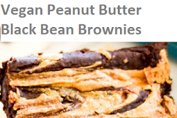 Vegan Peanut Butter Black Bean Brownies