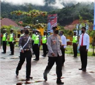 Polres Tapteng Susun Skema Pengamanan Prokes Selama Libur Panjang