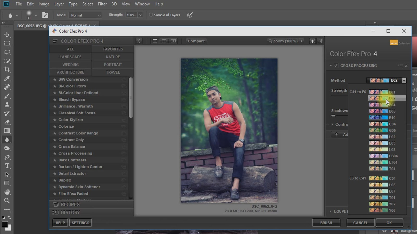 outdoor portrait photo manipulations working screenshot 5