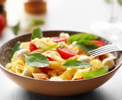 Warm pasta salad (Northern Italy)