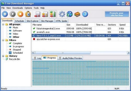 Software FDM (Free Download Manager)